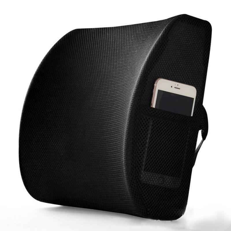 Lumbar Cushion Lower Back Support Pillow For Car Seat Office Chair Soft Memory Foam Massager Waist Cushion Pillow OX