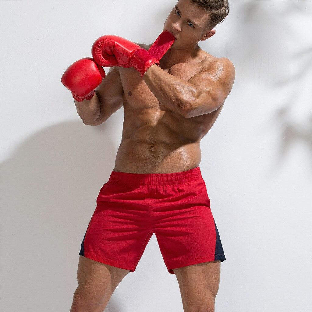 Men Beach   Board     Shorts   Pants Solid Patchwork Quick Dry Beachwear Men Mesh Lining Plus Size Swim Trunks Casual Sport Walking