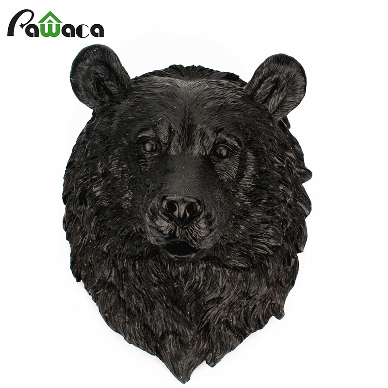 3D Animal Head Wall Hanging Resin Bear Head Halloween Home Party Art Wall Decorative Wildlife Sculpture Figurines Gift Crafts3D Animal Head Wall Hanging Resin Bear Head Halloween Home Party Art Wall Decorative Wildlife Sculpture Figurines Gift Crafts