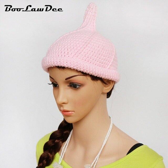 98b2bee8806 BooLawDee handwork crochet girl nipple-shaped beanie elastic winter warm  free size pink black white