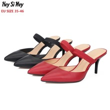 Big Size 35-46 shoes women 2019 new style pumps 7cm heel higt woman party shoes  high heels shoes  zapatos rojos para mujer цены онлайн