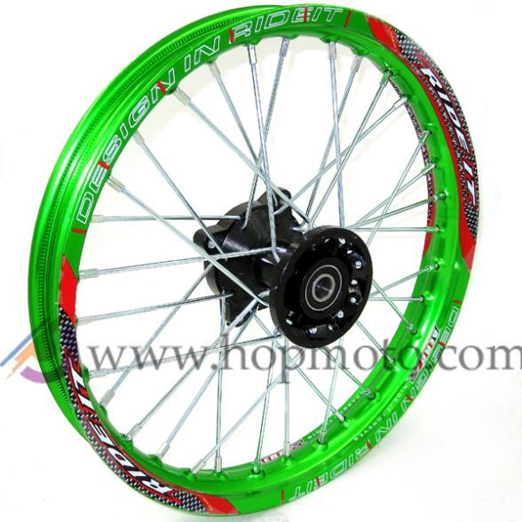 Green Pit Bike Racing 1,40 - 14 inch Inch-velg Voorwielvelg met 32 - Motoraccessoires en onderdelen