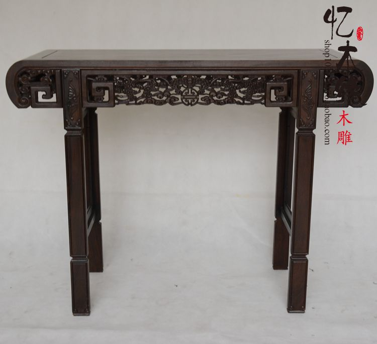 Ebony Buddha Buddha altar altar table Taiwan mahogany wood simple entrance porch ark antique table a chinese style mahogany altar altar fokan african rosewood altar entrance hall table table
