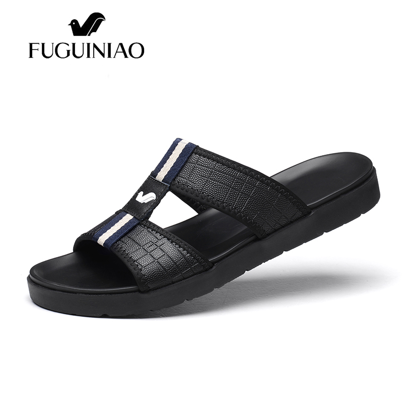 b0eff5a1b Praia Masculino Masculinos De Deslizamento Verão Lazer Sapatos Slides Los  black Sapato Hombres Vestido Nova Chinelos Moda Zapatos Branco White Casual  ...