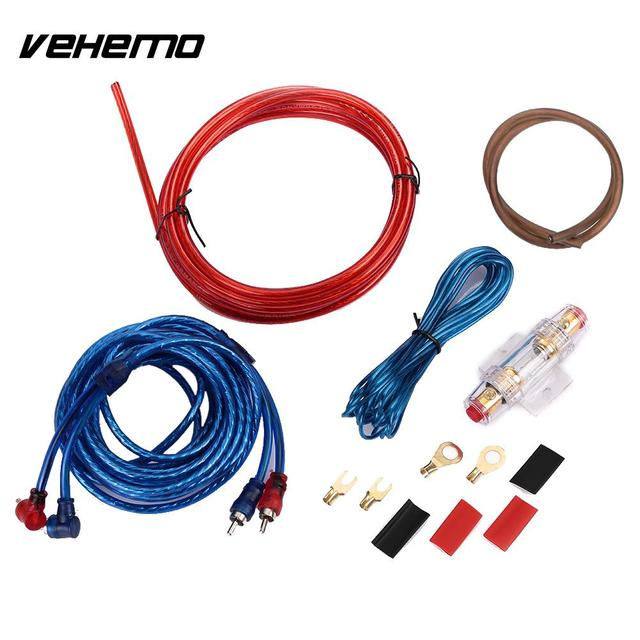 Special Offers Vehemo 1500W Fuse Car Amplifier Installation Kits Subwoofer Wiring Amplifier Cable Amplifier Wire Durable Pure Copper Speaker