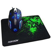 7 Buttons 3200 DPI Macro Programming Gaming Mouse LED Optical USB Wired Mice+Large Gaming Mouse Pad Gamer Mousepad for Pro Gamer logitech g102 wired mouse gaming optical 200 6000 dpi gaming mice rgb led mouse