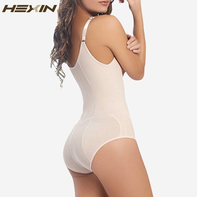 HEXIN 6 Huesos de Acero Mujeres Faja Faja Body Zipper Fajas Shaper de Cuerpo Completo la Pérdida de Peso Adelgazar Cuerpo Shaper Cintura
