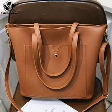 цена Casual Women Leather Handbags Large Capacity Women Shoulder Bags Female Big Tote Bag Famous Brand Ladies Hand Bags Sac A Main