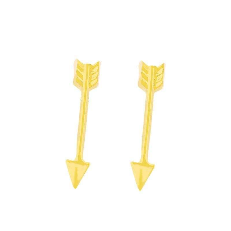 10 paires Pendientes à la mode flèche boucles d'oreilles pour femmes oreille en acier inoxydable rose or argent couleur métal cadeau Brincos Bijoux