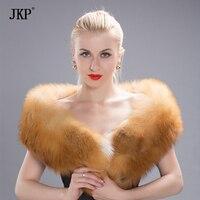 2018 Women Men Long Real Natural Red Fox silver fox Fur Scarf Genuine Luxury Soft Red Fox fur wide Scaves Shawls