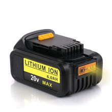 6000mah Rechargeable Li-ion Battery for Dewalt 20V 6A Electric Power Tool Portable Replacement Backup