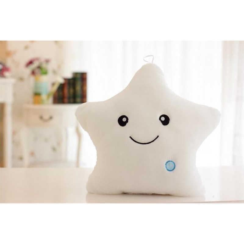 35 см креативная игрушка светящаяся пентаграмма и любовная Подушка Мягкие плюшевые светящиеся красочные звезды светодиодные игрушки подарок для детей