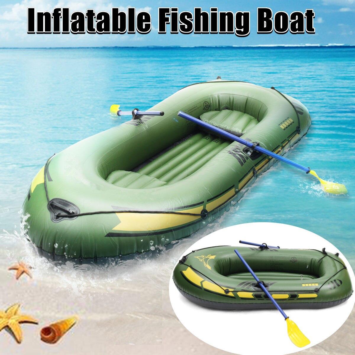 Sports 2/3 personne épaississement PVC bateau gonflable radeau rivière lac dériveur bateau pompe bateau de pêche avec rames ensemble charge