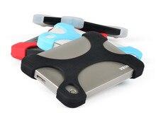 2.5 pulgadas disco duro portátil protector de drop-resistencia de caucho de silicona caso para sony cubierta resistente a las sacudidas externas de disco duro seagate