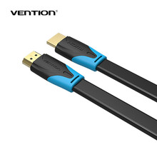 Vention HDMI to HDMI Cable Flat HDMI2.0 Cable Male to Male 4K*2K 18Gbps Supports Ethernet, 3D, 4K Video for HDTV PS3/4 1m2m3m10m
