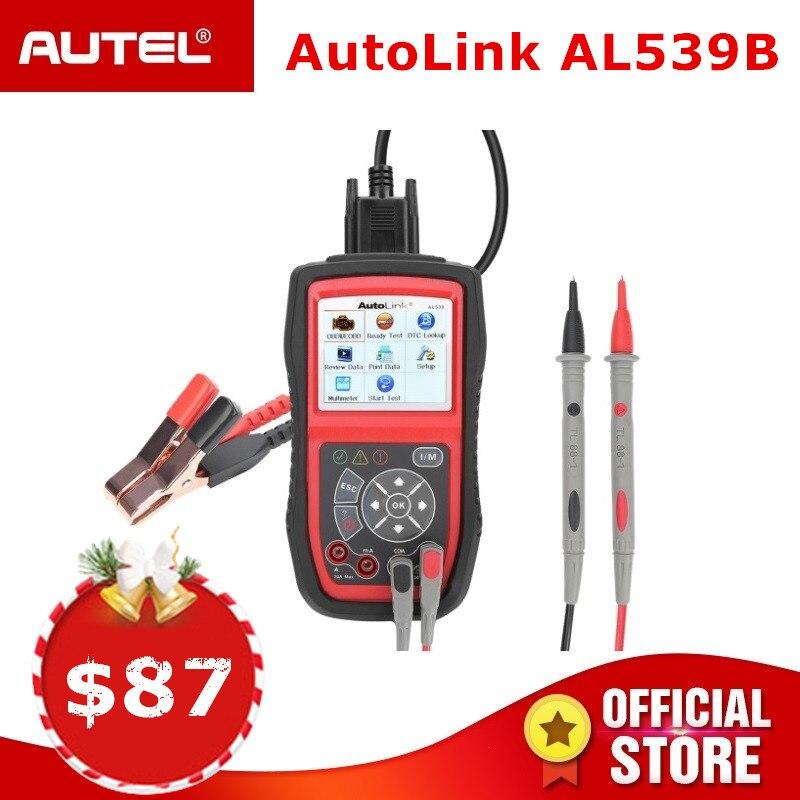 Autel AutoLink AL539B OBD2 scanner automobile Testeur Électrique ODB2 lecteur de code OBD 2 outil de diagnostic pour batterie test PK al519