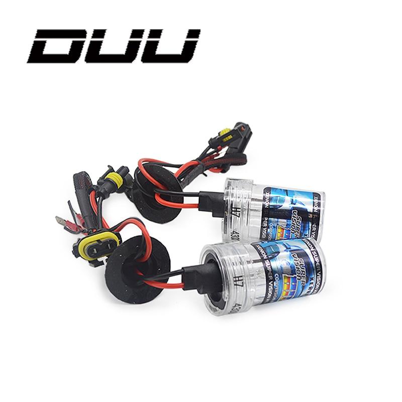DUU 2 stück H1 H3 H7 H11 9005 9006 D2S 12 v 35 watt HID Xenon birne Auto Auto Scheinwerfer ersatz lampe 4300 karat 5000 karat 6000 karat 8000 karat 10000 karat 120