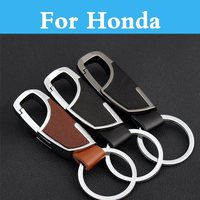 Car Styling black/Brown key chain key ring case cover For Honda FCX Clarity Fit Fit Aria HR-V Insight Inspire Integra Jazz