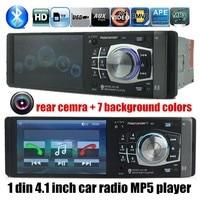 Новинка 2015 автомобиля Радио плеер с рулевого колеса, 4.1 HD FM/USB/1 din/дистанционный пульт порт 12 В автомобиля mp3/mp4/mp5, bluetooth