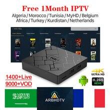 HK1 S905W تي في بوكس أندرويد مع 1 شهر مجاني IPTV رمز فرنسا العربية IPTV بلجيكا المغرب هولندا تونس IPTV الفرنسية IP Tv