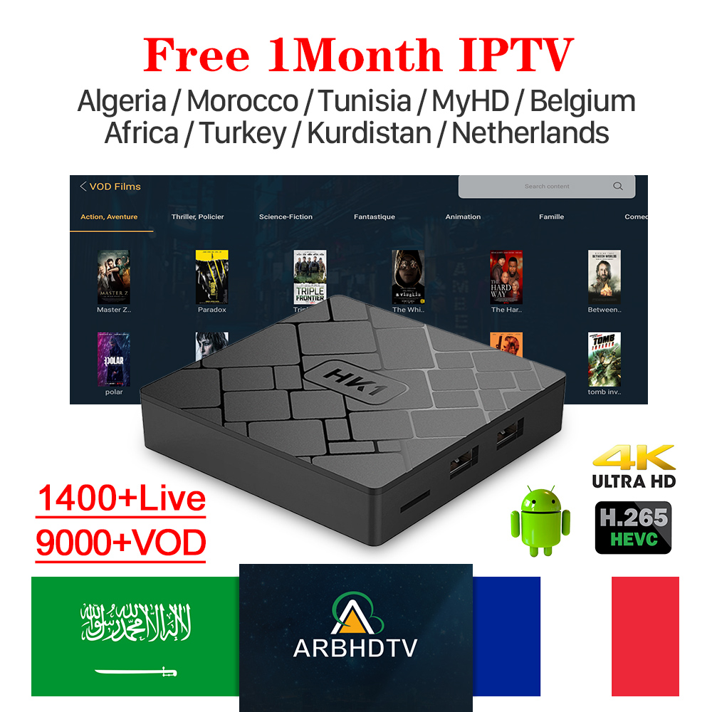 HK1 S905W Android Tv Box With 1 Month Free IPTV Code France Arabic IPTV Belgium Morocco Netherlands Tunisia IPTV French IP TV-in Set-top Boxes from Consumer Electronics