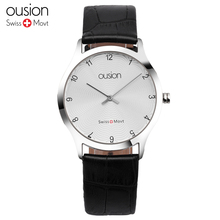New Ousion Women Dress Watches,Watches Men Luxury Brand Fashion& Casual Lover couple Leather strap Ladies watch