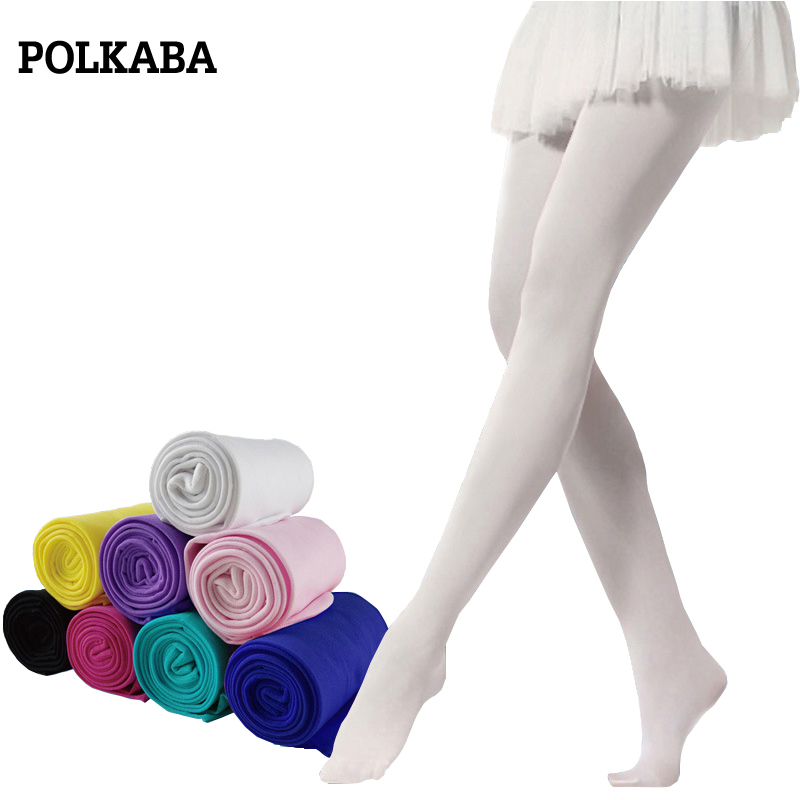 43e22ba4d82f0 1 16 Years Pantyhose Girl Candy Color Children Girls Ballet Tights Soft  Stretch Velvet Kids Baby