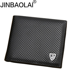 Novos homens carteira de couro PU carteiras de embreagem marca de luxo Marrom carteira grampo do dinheiro carteira de couro bolsa masculina dos homens cüzdan JINBAOLAI