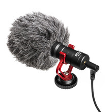 лучшая цена BOYA BY-MM1 Cardioid Compact On-camera Microphone Professional Audio Recording for Smartphones Cameras Camcorders PCs