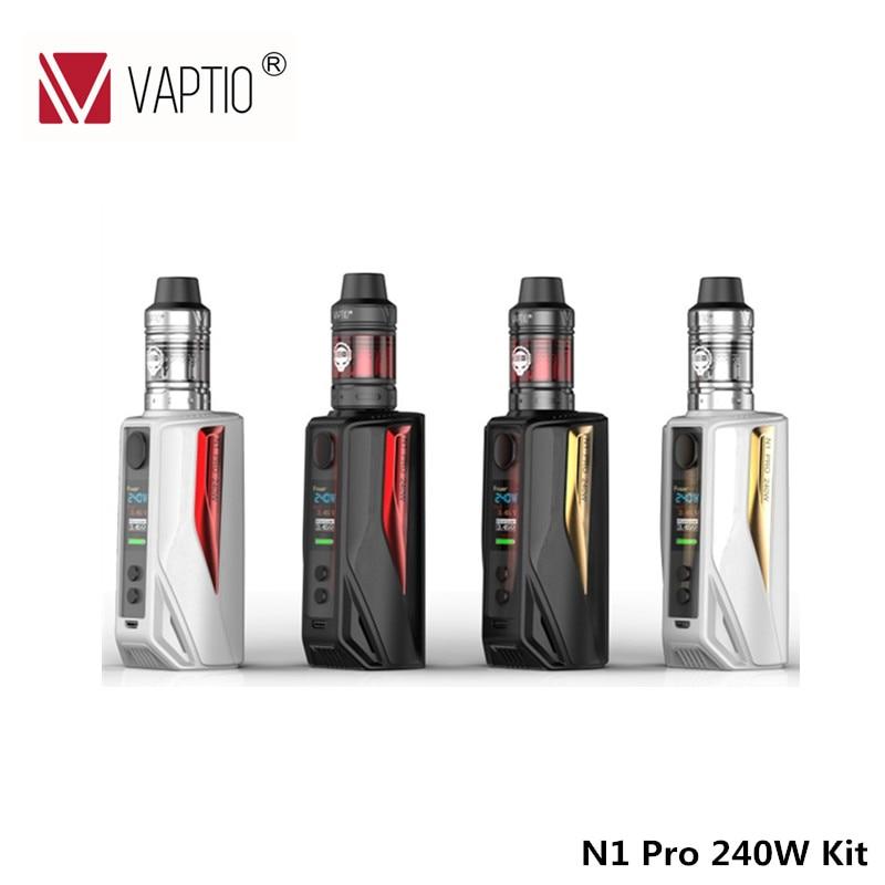 Vaptio Hot Sale N1 Pro 240W Kit with Frogman Tank 240W electronic cigarette kit Box Vape Mod 510 Thread 240w Ecig Kit 1 vp500 38 vp107 n vape 220v 110v