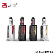 Vaptio Hot Sale N1 Pro 240W Kit dengan Frogman Tank 240W kit rokok elektronik Box Vape Mod 510 Thread 240w Ecig Kit