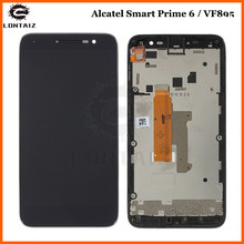 for Alcatel Vodafone Smart Prime 6 VF895 LCD VF895N Display and Touch Screen Assembly Black Mobile Phone цена в Москве и Питере
