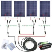 Полный комплект 400 Вт 400 фотоэлектрических панели солнечные 24 В солнечной системы RV зарядное устройство для лодки