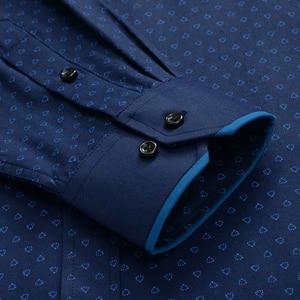 Image 5 - 큰 크기 셔츠 남자 10xl 11xl 12xl 옥스포드 인쇄 캐주얼 남자 셔츠 긴 소매 영국 스타일 플러스 szie 셔츠 남자 75 150 kg