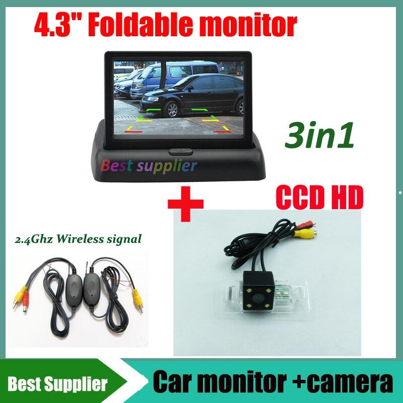 3in1 car monitor Wireless car rear view Camera For BMW X5 X1 X6 E39 E46 E53