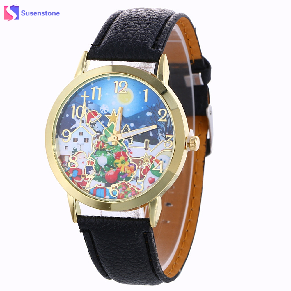 2017 Hot Sale Men Women Watches Christmas Pattern Analog Quartz Wristwatch Ladies Casual Vogue Watches fashion leather watches for women analog watches elegant casual major wristwatch clock small dial mini hot sale wholesale