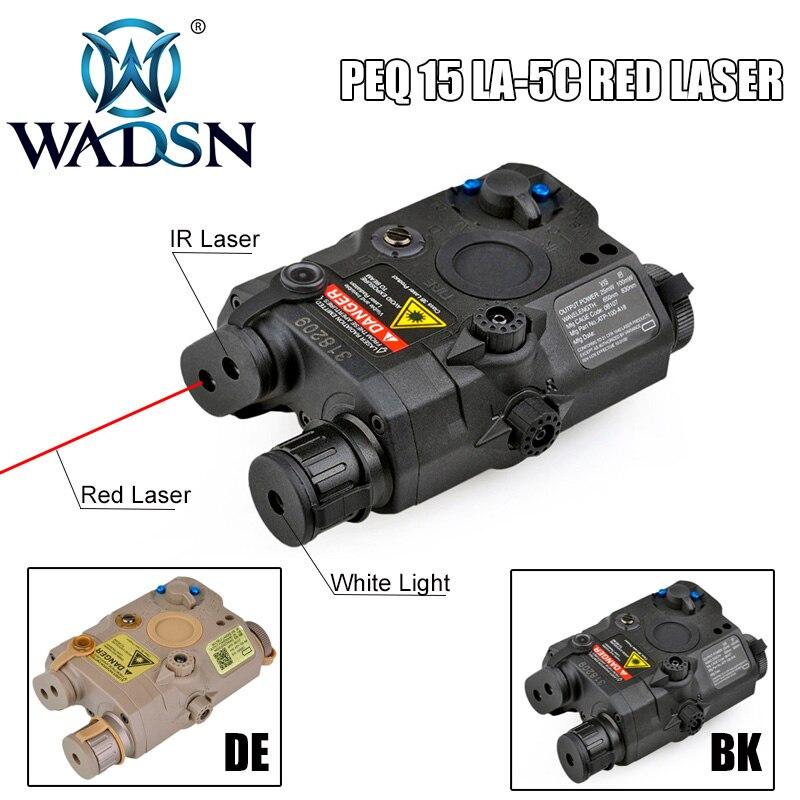 WADSN Airsoft LA PEQ15 Red Dot Laser Tactical light PEQ 15 IR Lazer Flashlight Combo Hunting