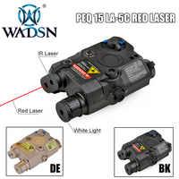 Wadgn Airsoft LA PEQ15 luz táctica láser punto rojo PEQ 15 IR Lazer linterna Combo caza softair Peq-15 armas luces EX276