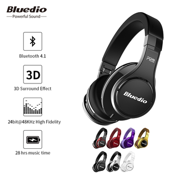 Bluedio original U(UFO) Bluetooth headphones Patented 8 Drivers HiFi Over-Ear wireless headset for Xiaomi with Mic 3D sound