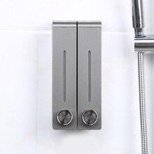 2pcs/set Liquid Soap Dispenser Wall Mounted Plastic Shampoo Shower Gel Dispensers Hand Sanitizer Bottle For Bathroom Kitchen
