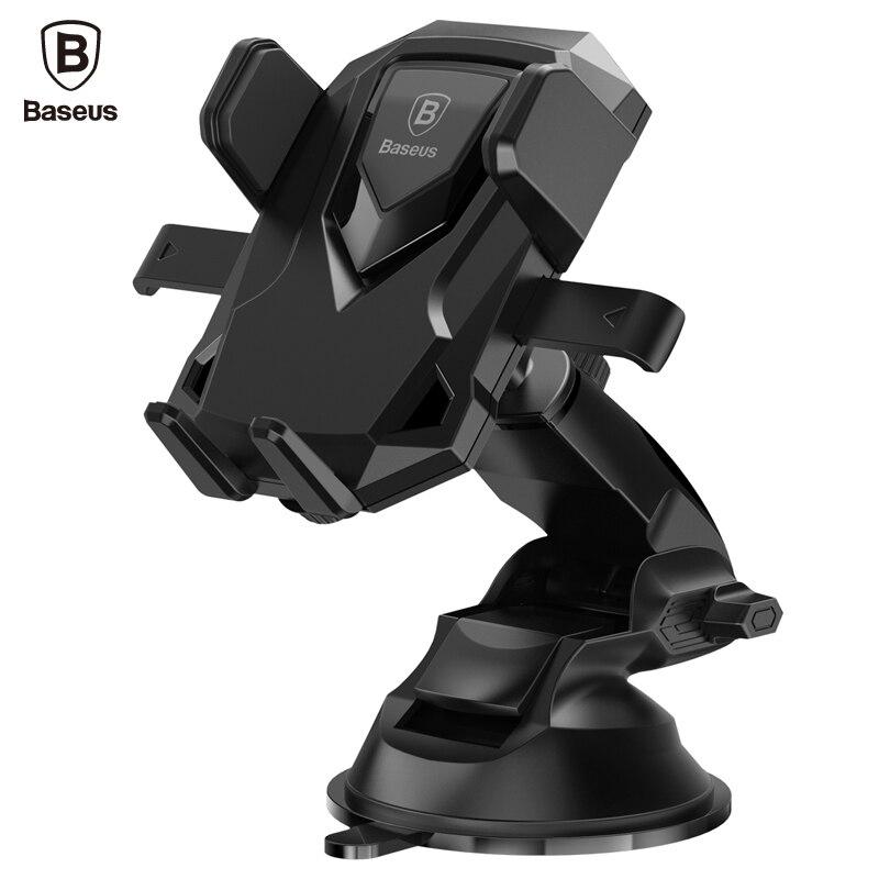 imágenes para De Baseus Robot Sostenedor Del Teléfono Del Coche Universal de 360 Grados Soporte Telescópico Ventosa Ventosa soporte Ajustable de Soporte Para el iphone 7 Samsung