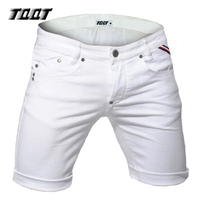 TQQT Men Shorts Knee Length Denim Shorts Zipper Fly Short Straight Low Waist Shorts Solid Casual 5 Pockets Short Jeans 5P0572