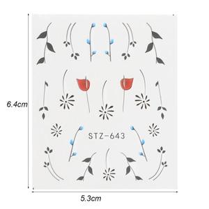 Image 2 - Full Beauty 40pc Water DIY Slider Nail Sticker Set Flower Black Necklace Tattoo Manicure Nail Art Polish Decor Tips CHSTZ608 658