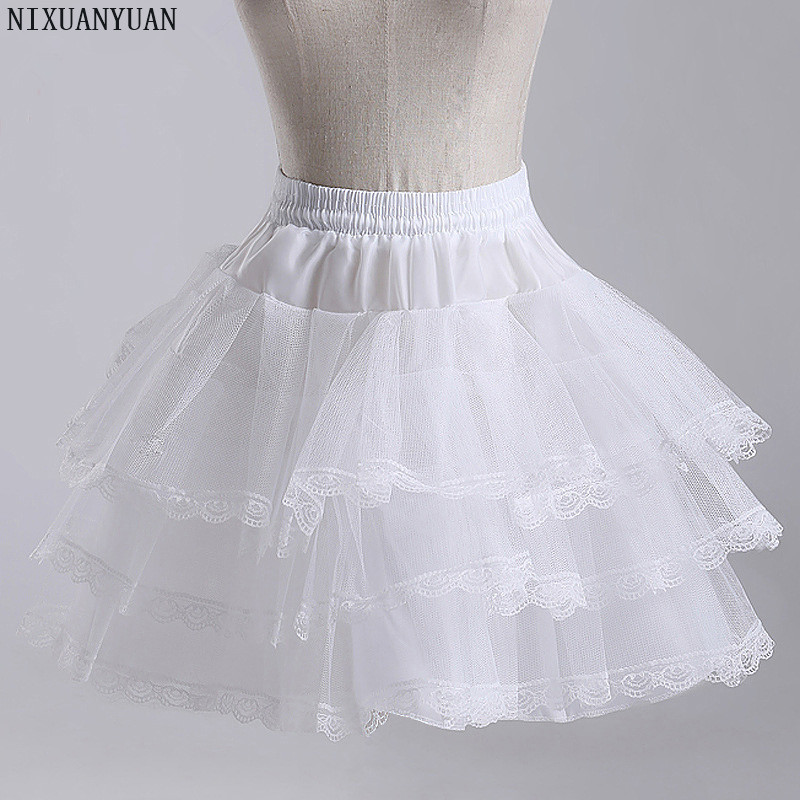 NIXUANYUAN Flower Girls Underskirt Cosplay Party Short Dress Petticoat Lolita Petticoat Ballet Tutu Skirt Rockabilly Crinoline
