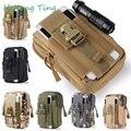 Militar molle cintura cinturón bolsa caja del teléfono monedero bolsa de la carpeta con cremallera para iphone 7 para samsung/lg/htc