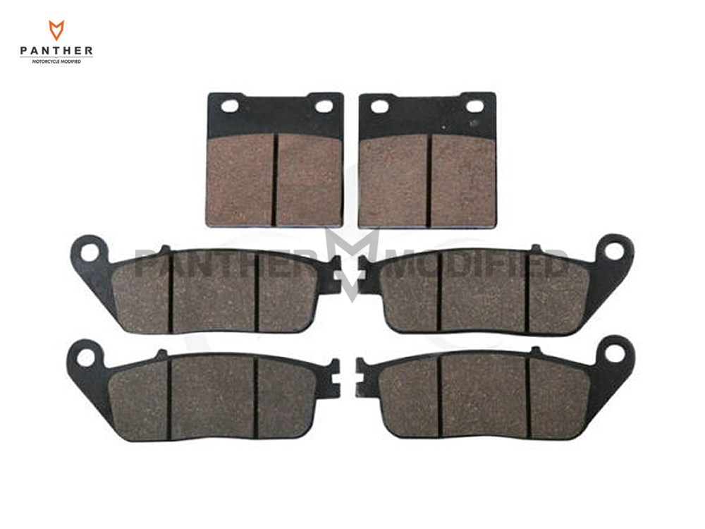 6 PCS Semi-Metallic Motorcycle Disc Front Rear Brake Pads Brake Disk case for SUZUKI GSF 400 BANDIT 1995 1996 1997