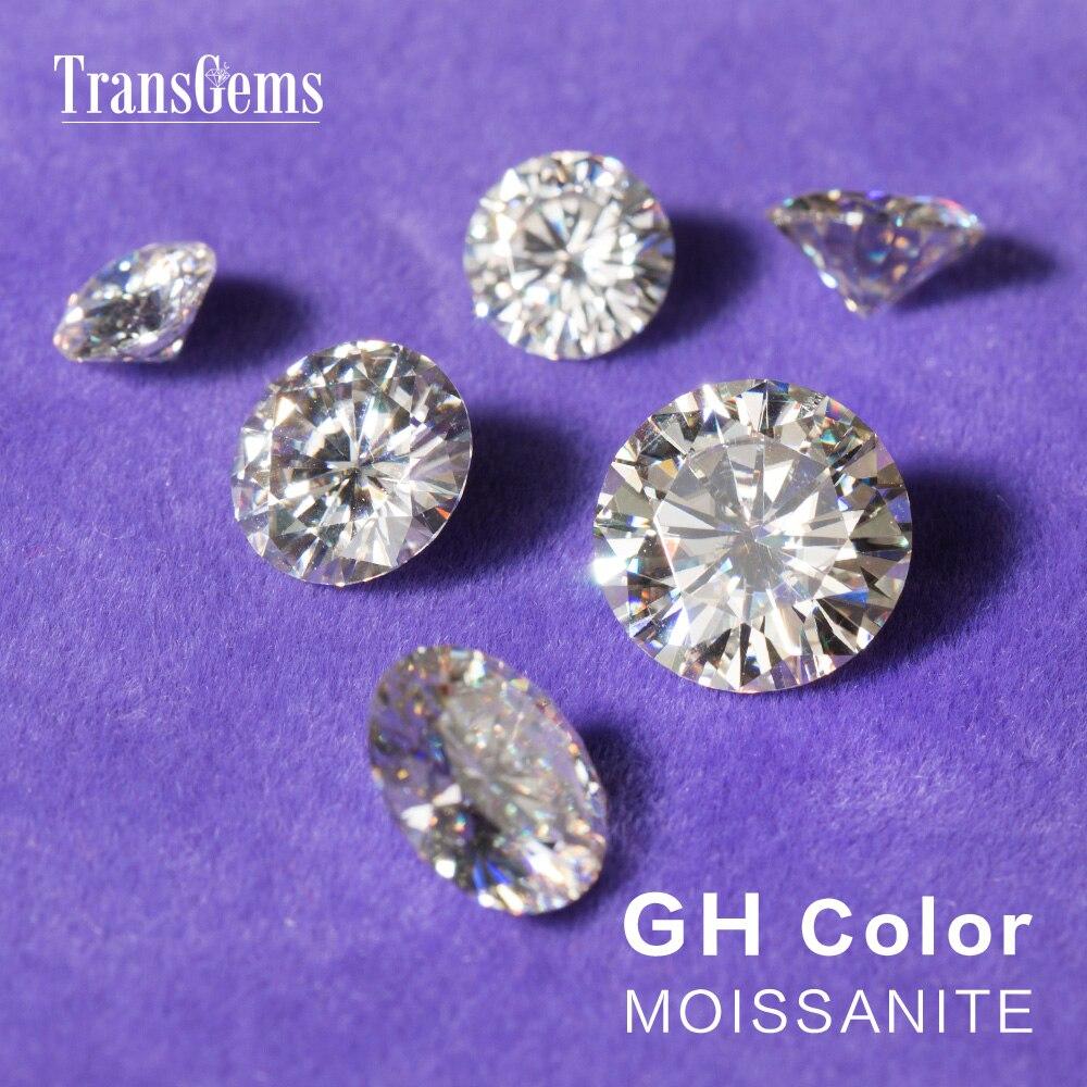 TransGems 1 Pièce Diamètre 8mm GH Incolore Ronde Coeurs et Flèches Cut Lab Grown Moissanite pour La Fabrication de Bijoux Sur 2 Carat - 4