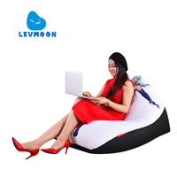LEVMOON Beanbag Sofa Chair Beauty Warrior Seat Zac Comfort Bean Bag Bed Cover Without Filler Cotton