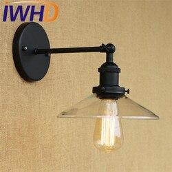 Loft w stylu szkło abażur kinkiet Edison oprawy oświetleniowe przemysłowe rocznika ścianie Retro kinkiet oświetlenie domu Lamparas
