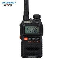 Baofeng UV 3R Plus Mini Walkie Talkie Ham de dos vías VHF UHF Radio estación transceptor Boafeng escáner portátil práctico walkie talkie